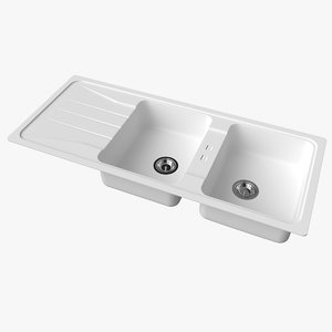 3D sink blanco sona 8