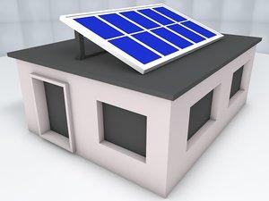 3D solar house