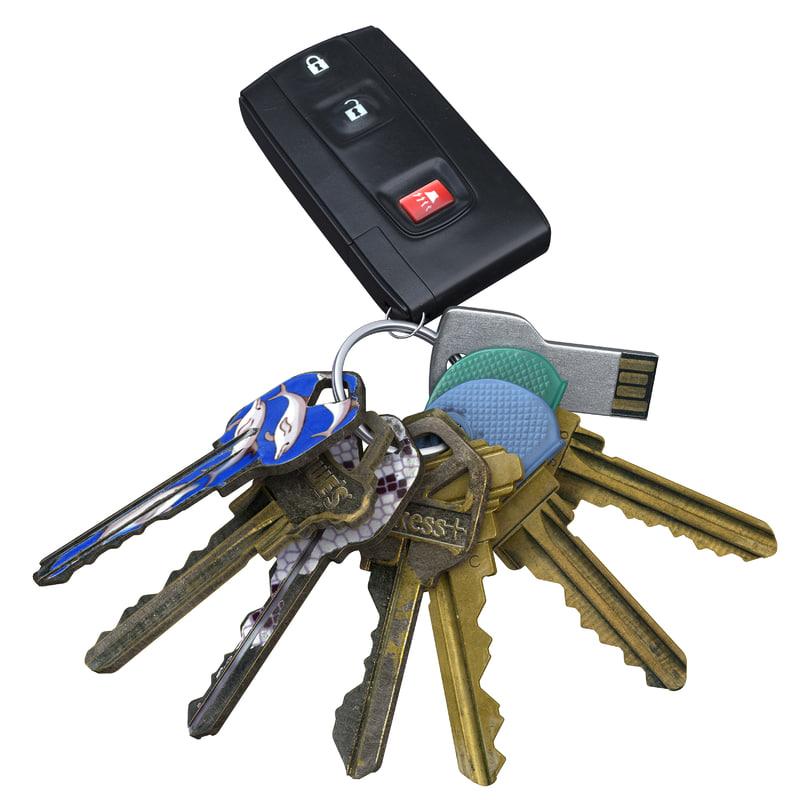 3D key car house