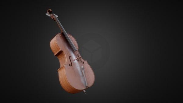 cello pbr 3D model