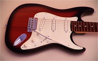 electric guitar fender stratocaster 3D model