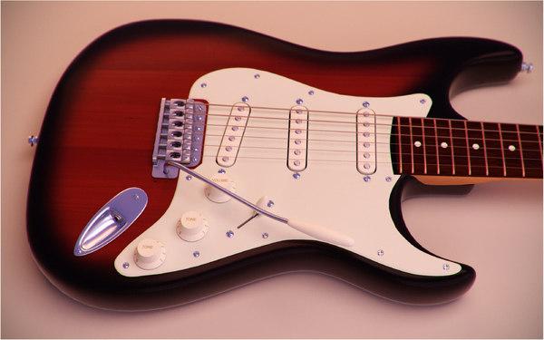 electric guitar fender stratocaster 3D model