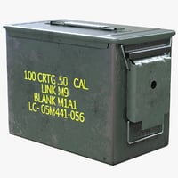 3D ammunition box model