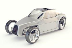3D car sci fi model