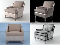 3D model claudette armchair 5160