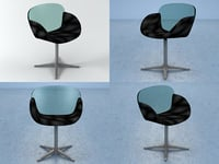 3D trance swivel chair