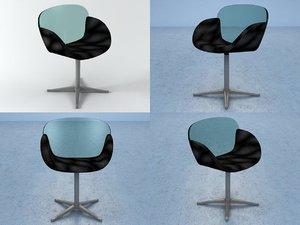 3D trance swivel chair