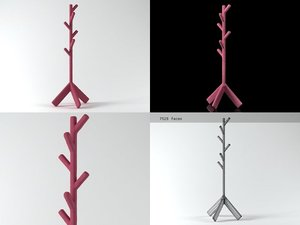 3D fracture furniture - coatstand