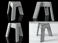 fracture furniture - chair 3D