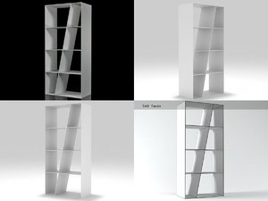 3D shelf bookcase sl66 b