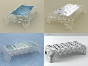 ivy table rectangular 3D model