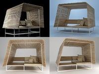 3D illu sofa