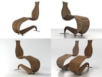 3D bolide chaise longue
