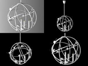 3D model souris 3 bougies