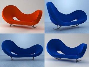 victoria albert sofa 3D