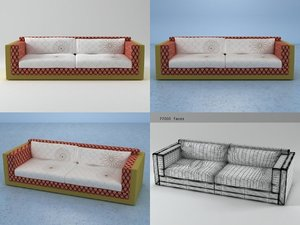 karmacoma sofa - sushi 3D model