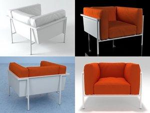 3D rr03 armchair model