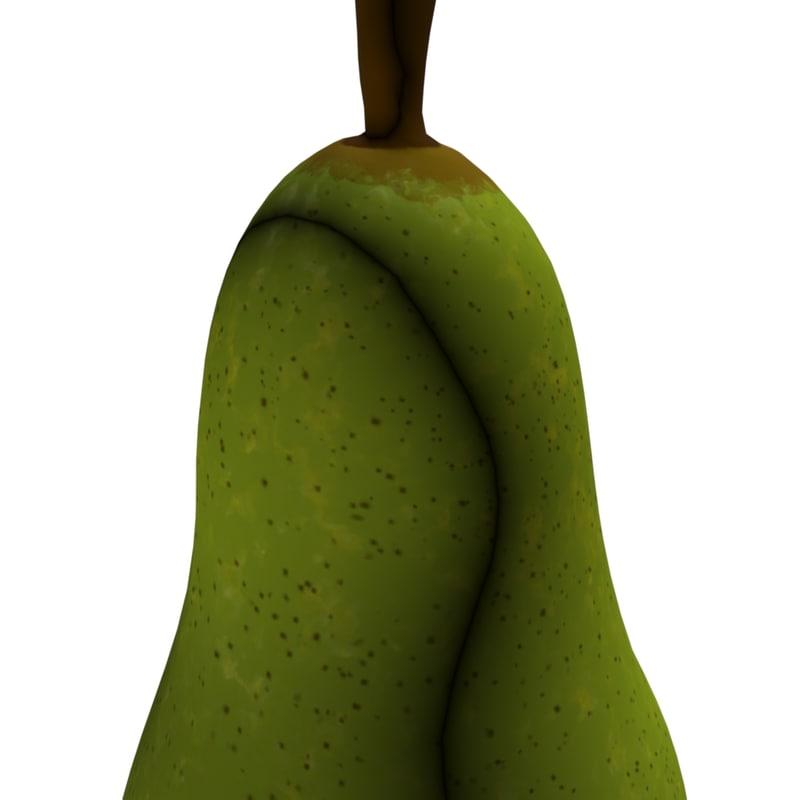 3D model pear green