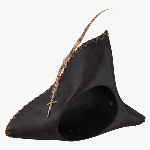 pirate hat 02 laying 3D model