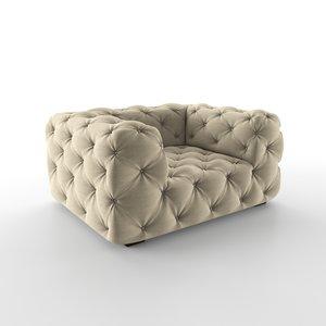 chair soho tufted 3D model