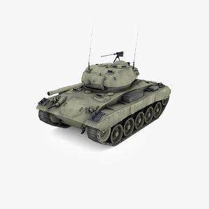 3D m24 chaffee light tank model