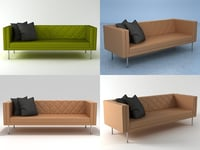 3D model harlequin sofa