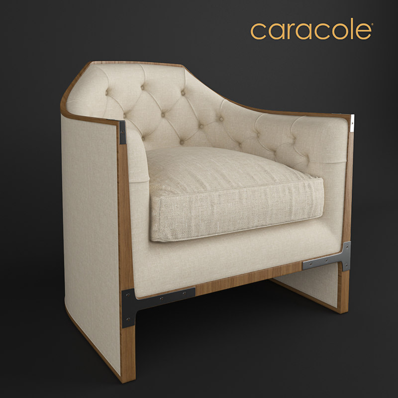 caracole armchair 3D