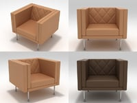 harlequin armchair 3D model