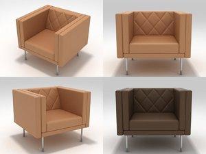 harlequin armchair 3D model