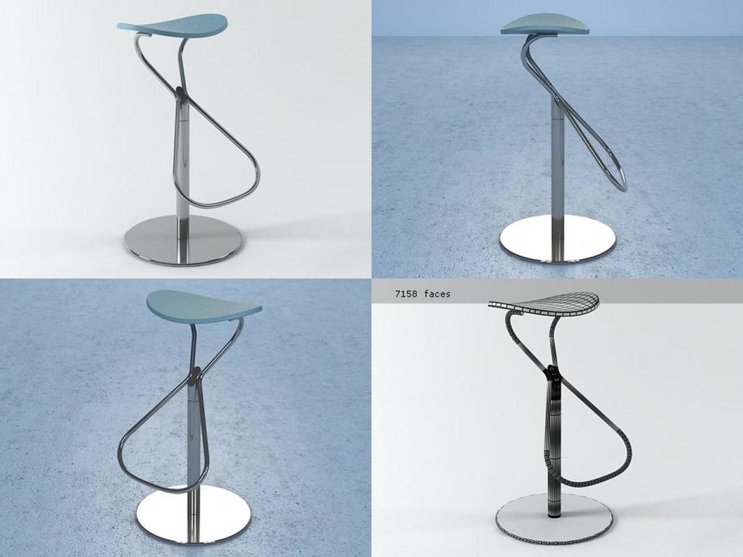 3D rodeo stool