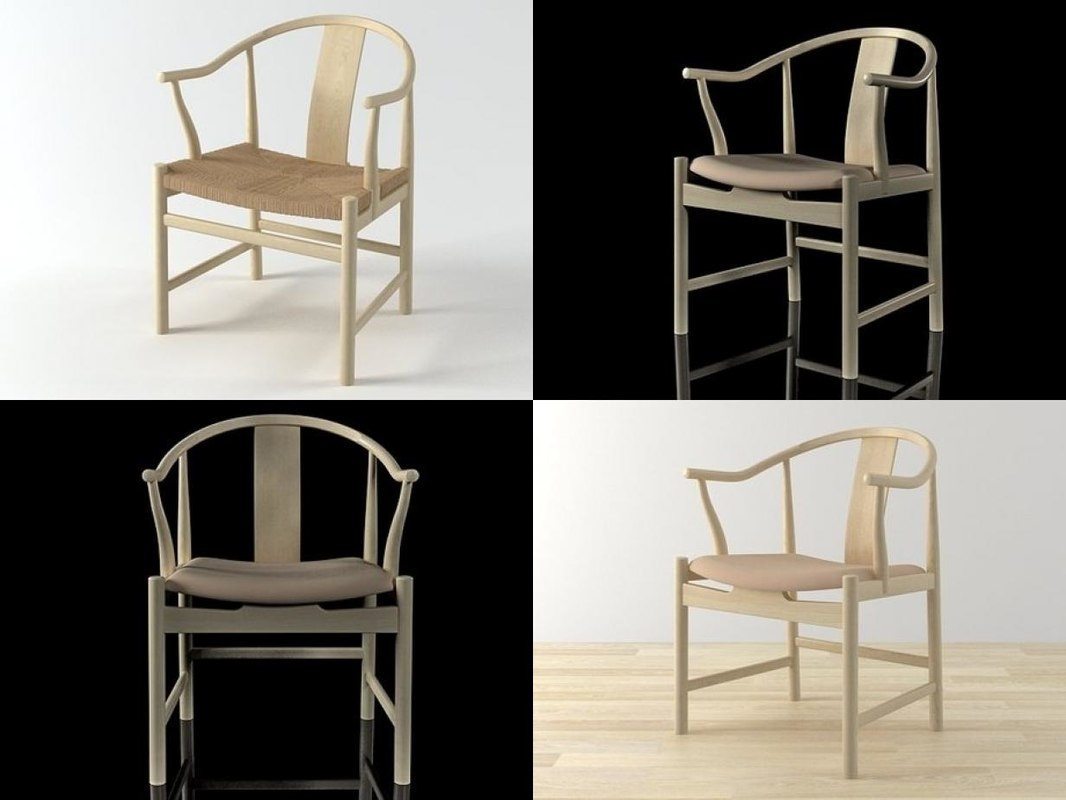 pp56 pp66 chinese chair 3D