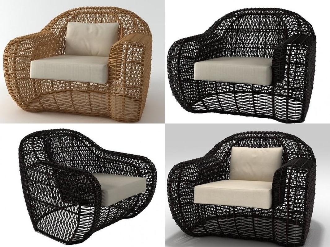 3D balou armchair model