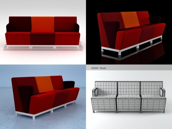 3D fellow sofa