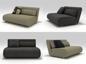 3D model everynight sofa-bed