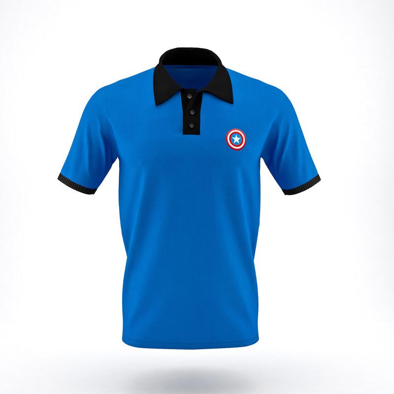 3D model men polo t-shirt