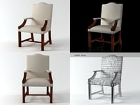 3D gainsborough chair n model