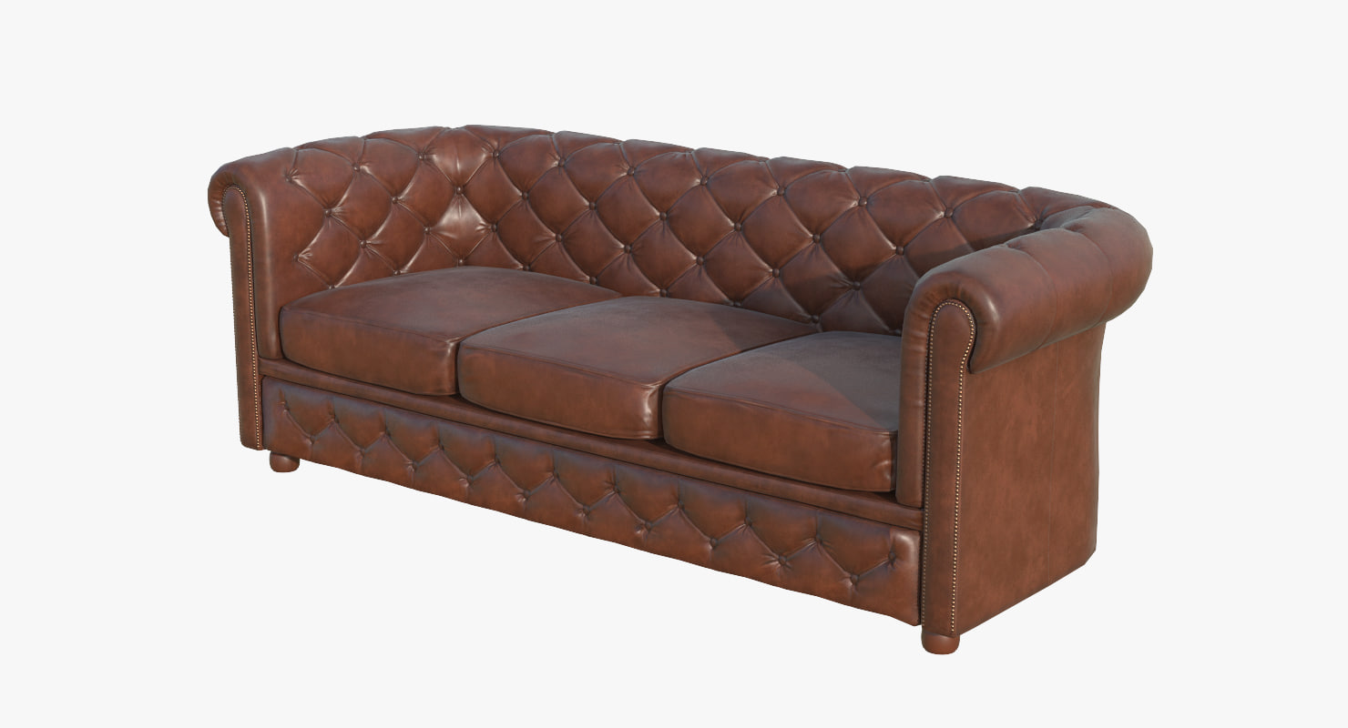 chesterfield sofa ar armchair 3D