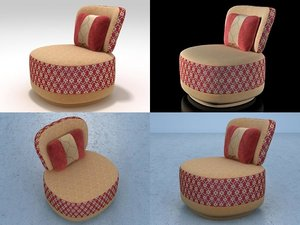 3D juju armchair - sushi