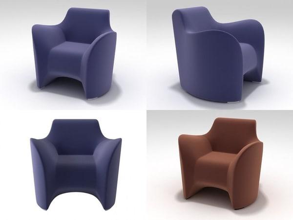 3D tokyo soft armchair