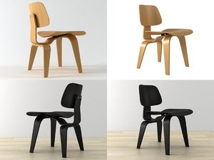 dcw dining chair wood 3D model
