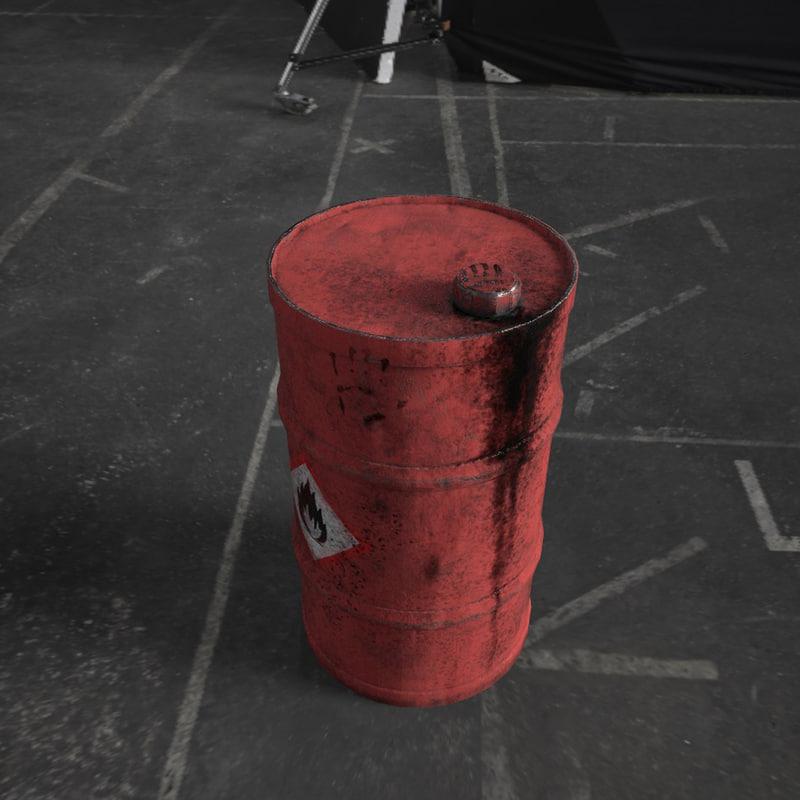 gas barrel 3D model