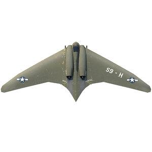 3D model wwii aircraft horten ho