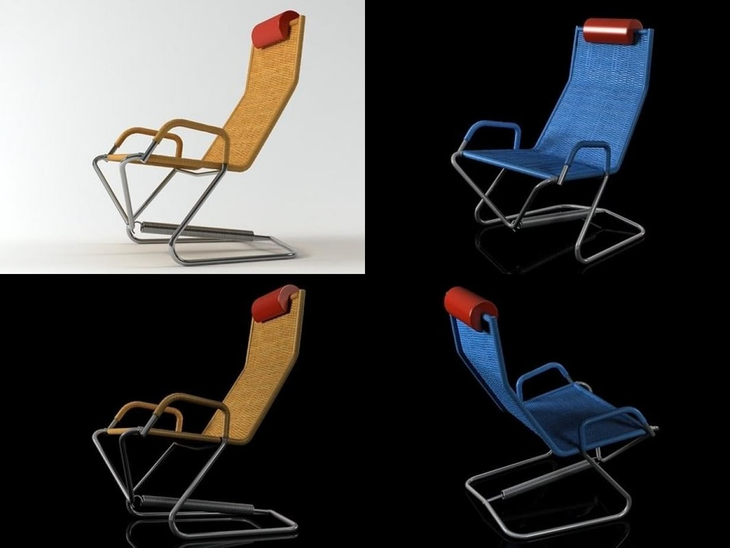 D 36 Hover Lounge Chair 3D
