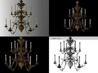 3D flemish renaissance chandelier n