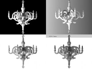 3D paper chandelier