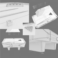 pool table - untextured 3D model