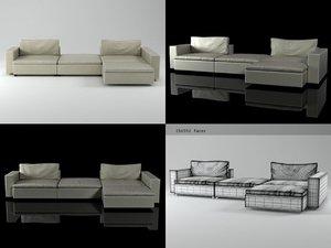 3D model seven sofa 01