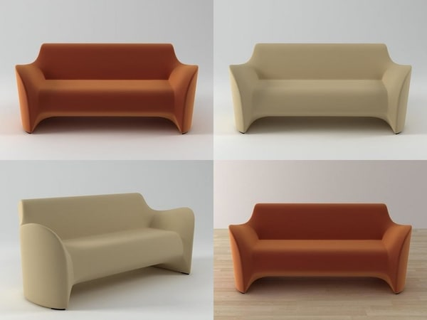 tokyo soft sofa 3D model