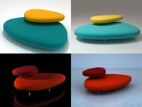 3D model pebbles cappellini