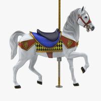 carousel horse v12 3D